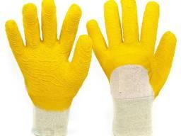 Перчатки со вспененным латексным покрытием - трикотажные х/