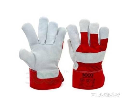 Перчатки SPLIT комбинированные хлопок/спилок