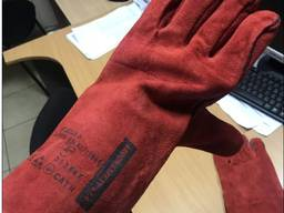 Перчатки сварщика спилковые с крагами на подкладке