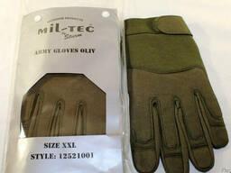 Перчатки тактические MIL-TEC олива для военных Германия