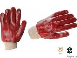 Перчатки трикотажные полностью покрытые толстым слоем ПВХ