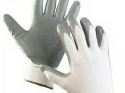 Перчатки трикотажные с латексным и нитриловым покрытием