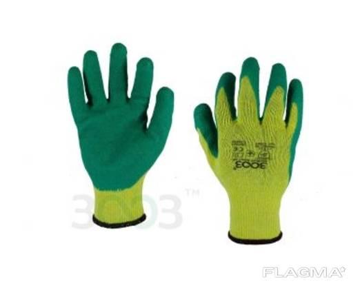 Перчатки трикотажные с неполным латексным обливом