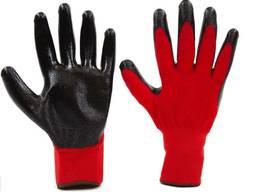 Перчатки трикотажные с нитриловым обливом