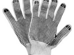 Перчатки трикотажные с точечным ПВХ- покрытием