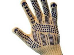 Перчатки трикотажные уплотн. с ПВХ-точкой (3 нити)