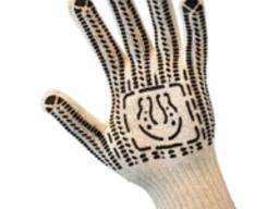 Перчатки трикотажные уплотнитель с ПВХ точкой (7 нитей)