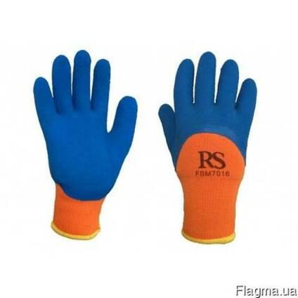 Перчатки трикотажные, утепленные, покрыты латексом