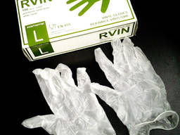 Перчатки виниловые припудрены 50 пар в упаковке