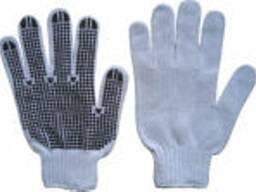 Перчатки вязанные с ПВХ точкой