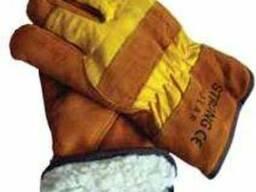 Перчатки зимние на меху, рабочие.Strong polar