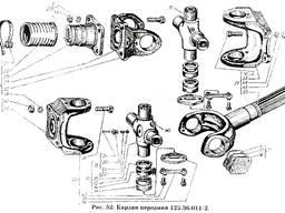 Вилка кардана переднего 125.36.102-1 к тракторам Т-150К, ХТЗ