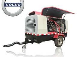 Передвижной компрессор с дизельным двигателем Volvo