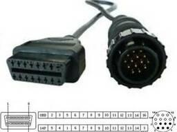 Переходник c OBD-II 16-pin на 14-pin MB Sprinter, VW LT. ..