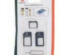 Переходник для SIM карт Noosy 3 в 1, micro-nano, micro-sim, nano-sim, Black