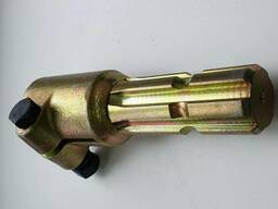 Переходник карданного вала (втулка 25мм, вал 6 шлиц. ) цинковое покрытие