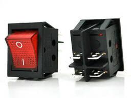 Переключатель ON-OFF KCD4-201N, 250VAC / 16A, 4 контакта, Red, Q50 ( 246*170*41 ) 0, 66 кг