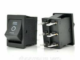 Переключатель ON-OFF KCD4-213, 250VAC / 6A, 6 контактов, Black, Q100