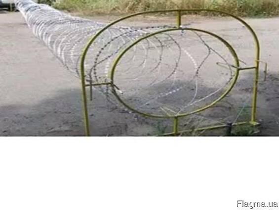 """Переносной барьер с колючей проволоки """"Мобильный барьер"""""""