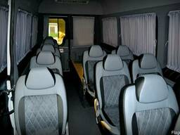 Перетяжка ремонт обшивка салона сидений автобуса микроавтобу