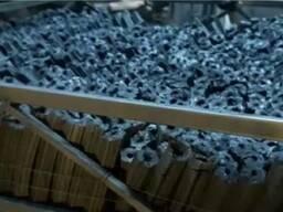 Переугливание древесного брикета в древесно угольный