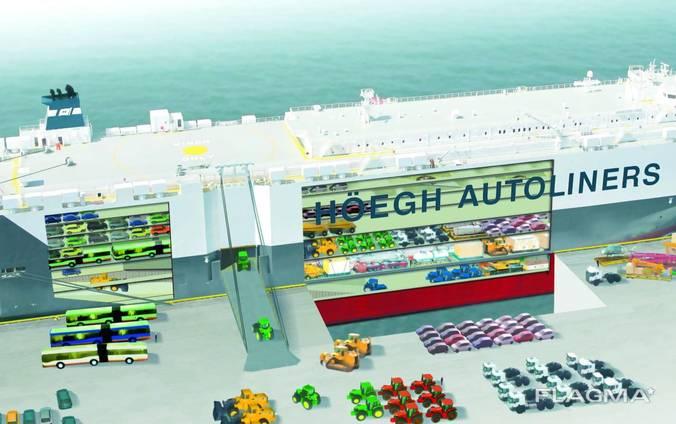 Перевозка новых легковых авто морем