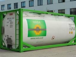 Перевозке химических и пищевых грузов в танк контейнерах