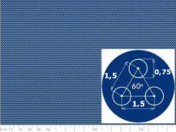 Лист перфорированный с круглыми отверстиями 0,75мм