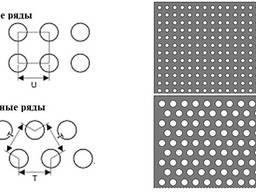 Перфорированный лист нержавеющий диаметр перфорации 0,8 мм