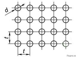 Перфорированные листы круглые отверстия по квадрату