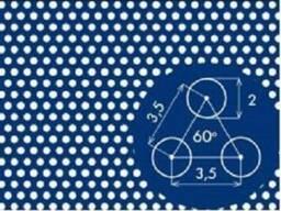 Перфорированные нержавеющие листы PC Rv1, 25-2, 4/1/1000x2000