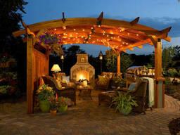Пергола деревянная садовая из термодревесины