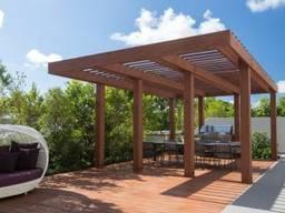 Пергола деревянная современного дизайна от производителя