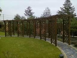 Перголы, забор деревянный, мебель для дома/сада из дерева