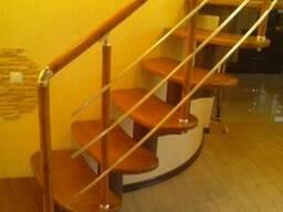 Перила алюминиевые на лестницу