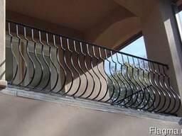 Перила кованные металлические для лестниц и балконов поручні