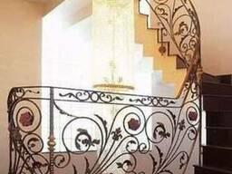 Перила в дом для лестницы Киев и область. МВК Ковка