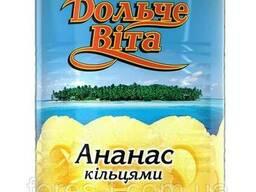 Персики Консервированные кольца Дольче Вита 580/340