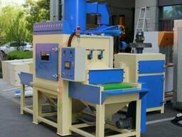 Пескоструйная установка с проходным ленточным конвейером