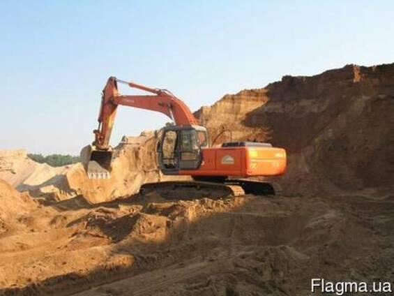 Песок мелкозернистый, глина строительная, почва плодородная