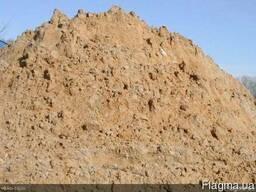 Песок овражный.