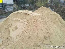 Песок мытый речной карьерный навалом и в мешках