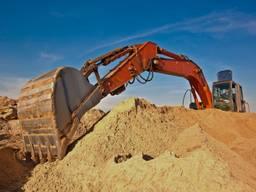 Песок строительный кварцевый, карьерный