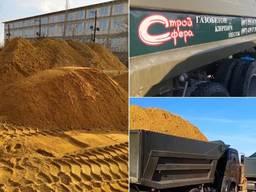 Песок строительный низкая цена