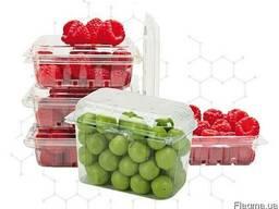 ПЭТ упаковка (пинетка) для ягод, фруктов, овощей от производ