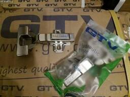 Петля мебельная накладная GTV с доводчиком клип и стандарт - фото 3