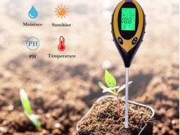 PH-метр/влагомер/термометр/люксметр для почвы AMT - 300