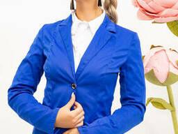 Пиджак женский 104R1182-1 цвет Электрик