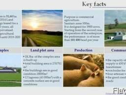 Pig/agricultural complex for sale, strategic asset