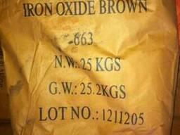 Пигмент железоокисный коричневый 663 для плитки и бетона